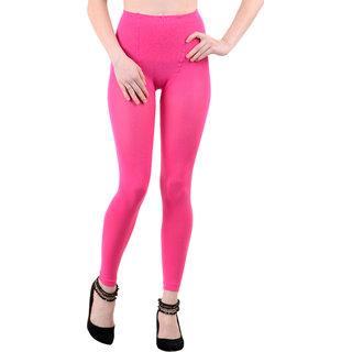 Nxt 2 Skin Ladies Footless Stocking Pantyhose, Women's Leggings Tights - Pink