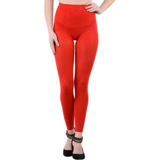 Nxt 2 Skin Ladies Footless Stocking Pantyhose, Women's Leggings Tights - Red