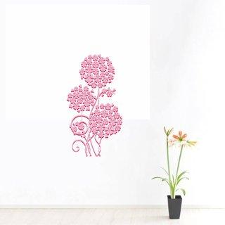 wall dreams Floral flower Floral  Sticker ( 60 x 45 cms )