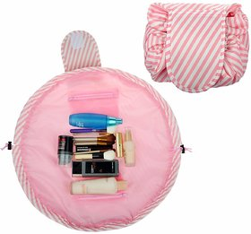 House of Quirk Lazy Cosmetic Bag by House of Quirk Drawstring Travel Makeup Bag Pouch Multifunction Storage Portable Toiletry Bags