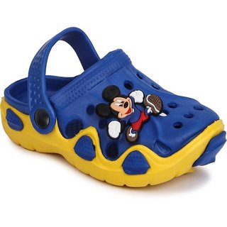 Yellow Blue Clogs For Kids