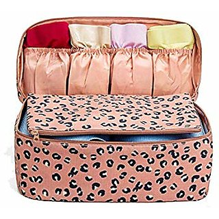 57d4ba57326f House of Quirk Women's Bra Storage Bag For Underwear Clothes Lingerie  Organizer Suitcase Case Waterproof Cosmetic Pouch Travel Accessories