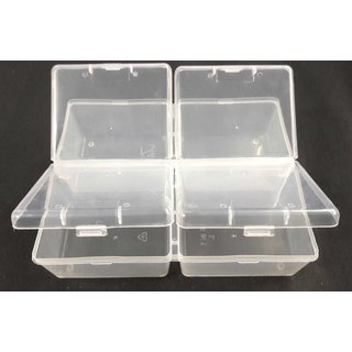 Plastic Box Partition Storage Organiser Container Household Things-5x6x2in.-3Pcs