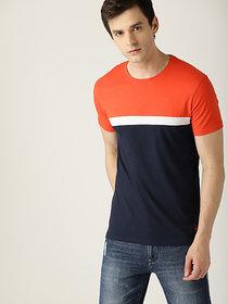 Stylogue Multicolor Self Design Round Neck T-shirt
