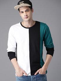 Men's Multicolor Round Neck T-Shirt
