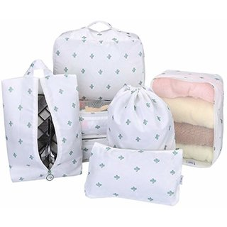 7 Set Travel Organizer Bag by House of Quirk 3 Packing Cubes + 3 Pouches + 1 Toiletry Organizer Bag, Premium Quality