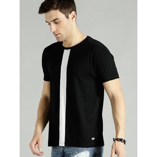 29K Black Digital Print Round Neck T-shirt