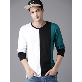 Men's Multicolor Round Neck T-Shirt