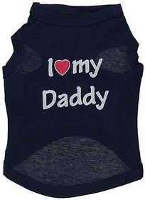 Futaba Puppy  I LOVE MY DADDY  Vest Shirt - Black - L
