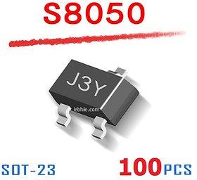100pcs S8050 SOT-23 J3Y SMD NPN Transistor