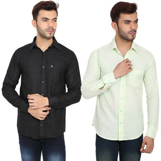 Black Bee Solid Casual Shirts For Men