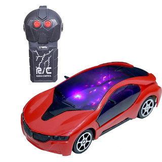 12241236c4683 Fast Modern Car 2 Function Radio and Remote Control Sedan Car with 3D Tri  Colour Light