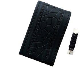 Fantasy AA-001, Black P.U. Leatherlite easy and flexible grip stichable Car Wheel Steering Cover