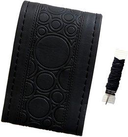 Fantasy AA-002, Black P.U. Leatherlite easy and flexible grip stichable Car Wheel Steering Cover