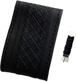 Fantasy AA-004, Black P.U. Leatherlite easy and flexible grip stichable Car Wheel Steering Cover