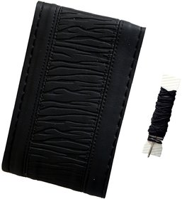 Fantasy AA-005, Black P.U. Leatherlite easy and flexible grip stichable Car Wheel Steering Cover