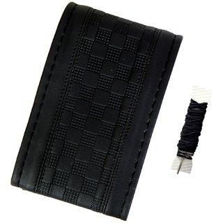 Fantasy AA-006, Black P.U. Leatherlite easy and flexible grip stichable Car Wheel Steering Cover