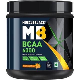 MuscleBlaze BCAA 6000  400g (50 Servings) Orange