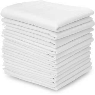 Concepts 100% Cotton Handkerchief Pack of 12 (Assorted)