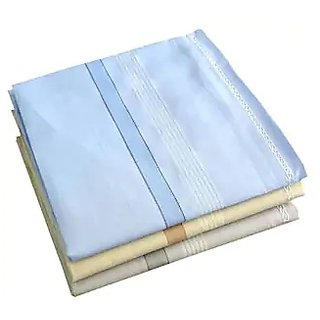Concepts 100% Cotton Handkerchief Pack of 3 (Assorted)