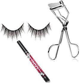 Combo OF Eye lash, Sketch Eye Liner With Eye Lash Curler