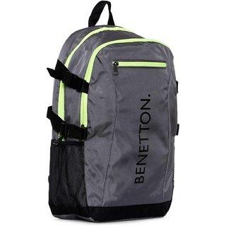 UCB Front Small Zipper 22 L Backpack (Grey)