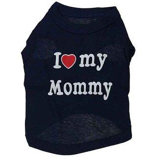 Futaba Puppy  I LOVE MY MOMMY  Vest Shirt - Black - L