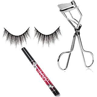 c62478fa1bb Combo OF Eye lash, Sketch Eye Liner With Eye Lash Curler