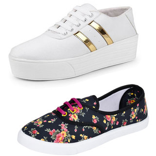 Armado Women/Girls Combo Pack 2 Casual Sneakers
