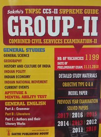 TNPSC CCS - II Supreme Guide for GROUP - II in ENGLISH for Combined Civil Services Examination - II (General Studies and General English) Detailed Study Materials, Objective Type Q  A, Model Paper, Previous Year Examination Solved Papers for 2010, 2011,