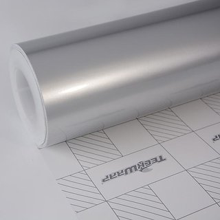 Universal 12x24 Silver Metallic Glossy Vinyl Car Wrap Sheet Roll Film  Sticker Decal For Car Bike Both