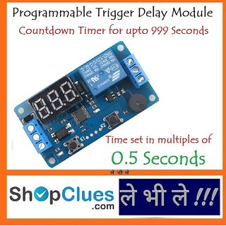E70B Programmable 12V Trigger Delay Countdown Timer Module Relay Switch 10A Load