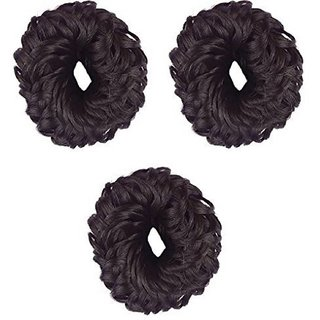 RKD Juda Hair Band For Women And Girls  Juda Accessories For Women Set Of 3, Small (Brown) Bun, Hair Accessory Set  (Br