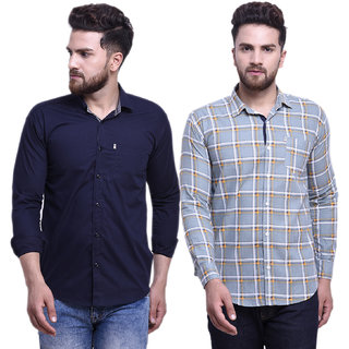 29K Pack Of 2 Slim Fit Casual Cotton Shirts