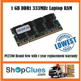 E63 Laptop RAM 1GB DDR1 PC2700 333MHz SODIMM Non-ECC Notebook Memory