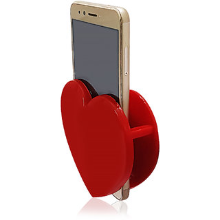 KSJ Heart Shape Plastic Mobile Stand