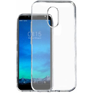 KOVERZ Exclusive Soft Silicone TPU Jelly Crystal Clear Soft Back Case Cover For Tambo TA 4 -Transparent