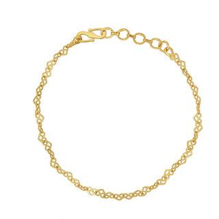 12dfd5ae15d93 Memoir Gold plated stylish flat linked simple sober, Stylish fashion  bracelet Women Girls Latest