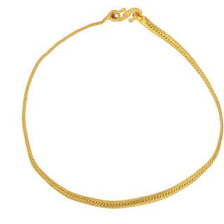 7cbbd5cd14b8d Memoir Gold plated flat chain simple sober, Stylish fashion bracelet Women  Girls Latest