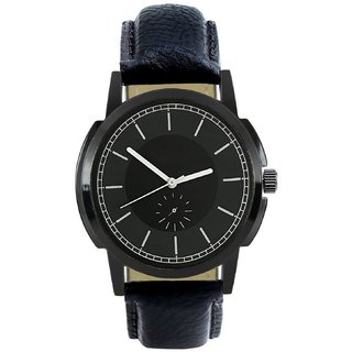 R P S fashion new looked black to black   lether strep men watch 6 month warranty