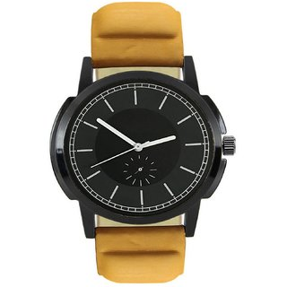 R P S fashion new looked brown  lether strep men watch 6 month warranty