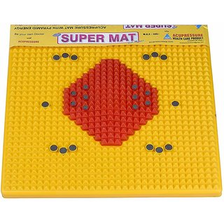 Visiono Acupressure  Excercise Yellow Foot Mat By Visiono VBC 5002