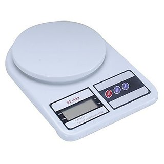Traders5253 Electronic Kitchen Digital Weighing Scale 10 Kg Weight Measure Liquids Flour White