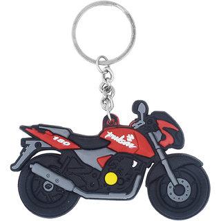 Memoir PVC vinyl, Bajaj Pulsar, motorcycle image stylish bike keyring key chain Accessory Bike Latest Men