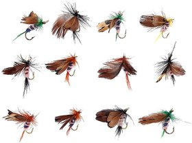 EREIN Butterfly Design Dry Fly Fishing Flies Fish Lure Hook Accessories, 12 Pc