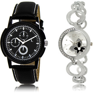 The Shopoholic Black Silver Combo Best Combo Pack Black And Silver Dial Analog Watch For  Boys  And  Girls Watches For Boys