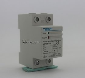 Over  Under Voltage Protector 40A 230V Household Din Rail Automatic Protection
