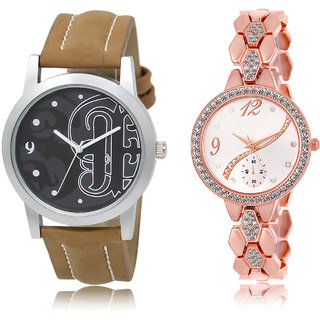The Shopoholic Black Silver Combo Best Combo Pack Black And Silver Dial Analog Watch For  Boys  And  Girls Couple Watch