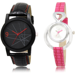The Shopoholic Black Silver Combo Treny and Precious Black And Silver Dial Analog Watch For  Boys  And  Girls Watches For Man Boy
