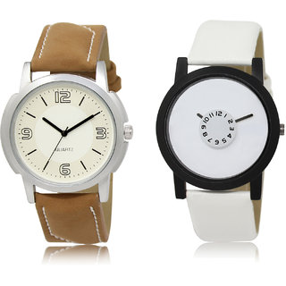 The Shopoholic White Combo Fashionable Fancy Collection  White Dial Analog Watch For  Boys Mens Watchs